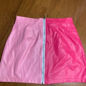 2 tone fitted skirt
